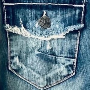 NWOT BKE Boot Cut Jeans Size 28 X 32 Back Flap Pkt